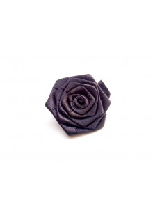 black rose saree pin