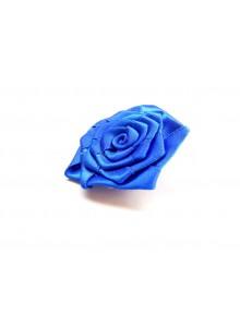 blue rose saree pin