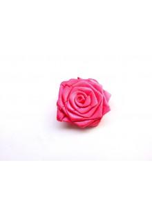 dark pink rose saree pin