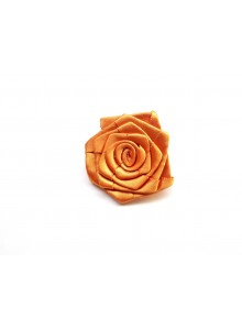 golden brown rose saree pin