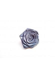 grey rose saree pin