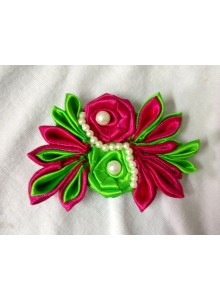 devart green and rani rose saree pin