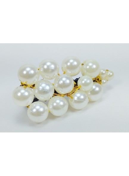 white pearl saree pin