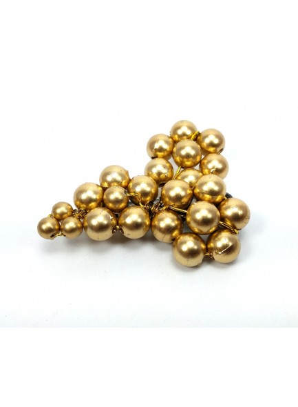 golden pearl saree pin