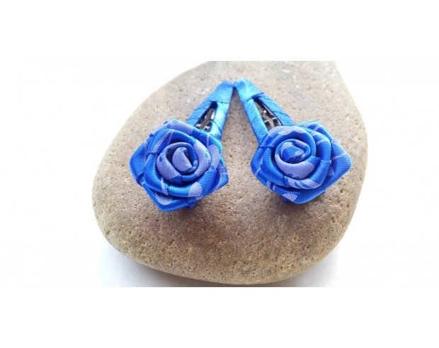 blue rose hairpin