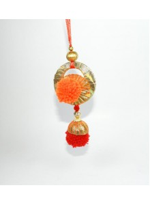 orange and red lumba rakhi