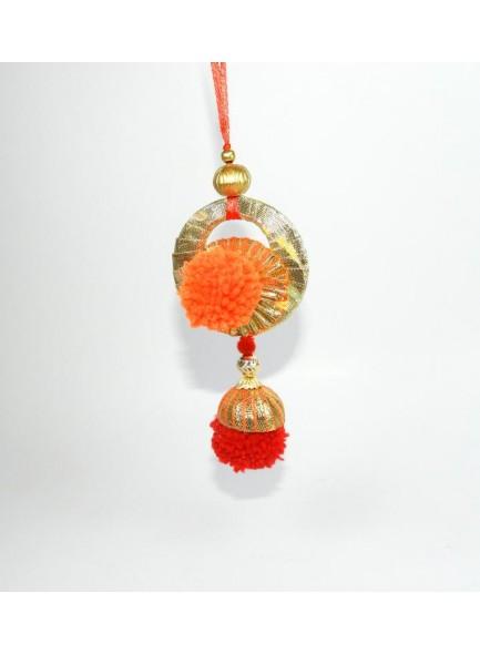 orange and red lumba rakhi