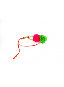 pink and green lumba rakhi