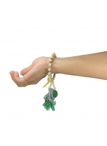 green flower bhabhi rakhi with pearl