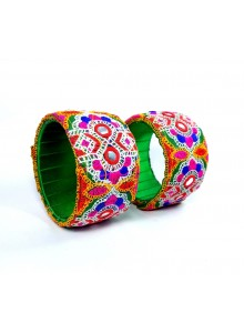multi color kucchi work bangles