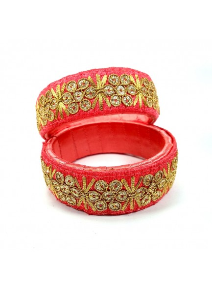 carrot red work bangles