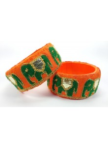orange elephant work bangles