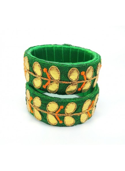 green gota patti work bangles