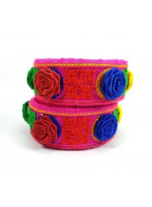 rani kucchi work with rose flower bangles